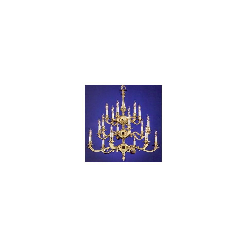 Norwell Lighting 5115 CAPB Polished Brass Indoor & Outdoor Lighting 18 Light Chandelier