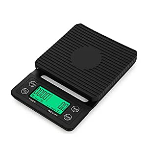 Rajendram Multifunctional Digital Coffee Scale LCD Digits Display with Timer Kitchen Scale