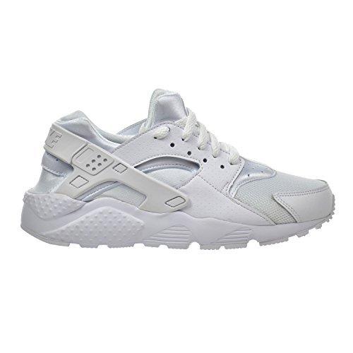 Nike Huarache Run (GS) Big Kid's Shoes White/Pure Platinum 654275-110 (5 M US) by NIKE