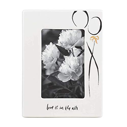 Kate Spade New York Bridal Party Love is in the Air 4x6 Porcelain Picture Frame ()