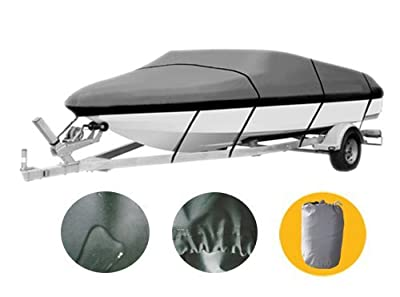 Heavy Duty 600D 14' - 16' Boat Cover Waterproof Trailer Fishing Ski Covers XBT1H