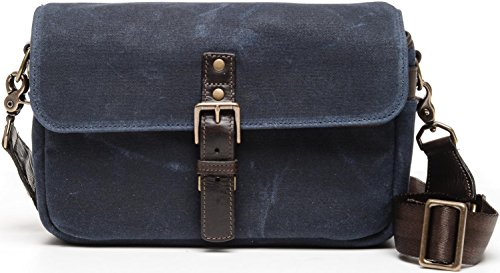 ONA - The Bowery - Camera Messenger Bag - Waxed Canvas (One_Size, Navy Blue Waxed Canvas & Leather) by Ona