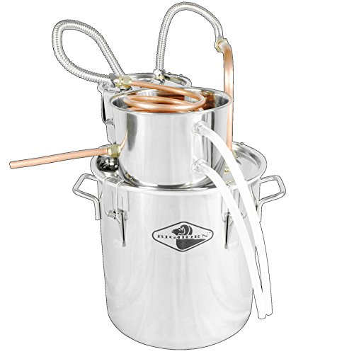 Big Horn 5 Gallon Dual Keg Distillation Kit   Stainless Steel Distilling  Equipment   Make Alcohol, Essential Oils, Distilled Water, With This Home