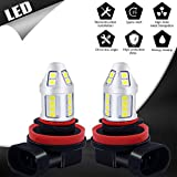 TURBOSII H11/H8/H9/H16JP LED Headlight Bulbs Conversion Kit, DOT Approved, Epistar 5730 Chips DRL Beam/Fog Light Bulb- 960LM 6000K Cool White,1 Year Warranty,2PCS