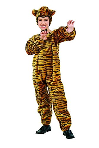OvedcRay Tiger Child Costume Plush Farm Zoo Animal Kids Jumpsuit Boy Girl Costumes