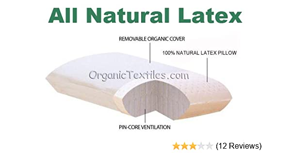 Amazon.com: KING SIZE - All Natural Latex Pillow with Cotton Cover: Home & Kitchen