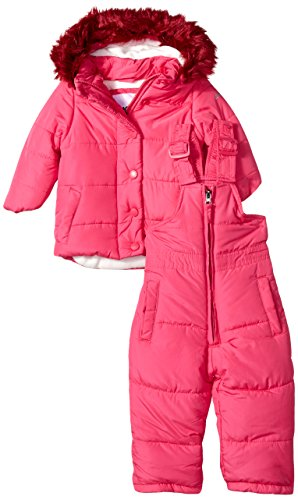 DKNY Baby Girls Snow Suit (More Styles Available), Royal Pink, 24M