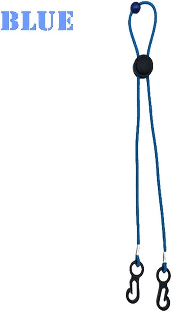 Verstellbarer Hanomes Anti-Verlust-Ohrenfalle Lanyard f/ür Mundschutz