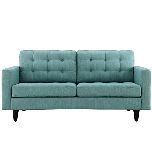 Modway Empress Upholstered Loveseat in Laguna