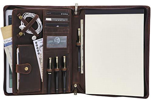Engraved Handmade Portfolio Organizer Left Handed