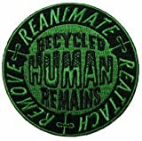Creepy Zombie Dead Horror Gothic Embroidered Iron on Patch - Recycled Human Remains KV85