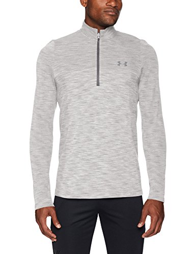 Nylon Golf Pullover - Under Armour Men's Siphon 1/2 Zip Sweatshirt, White (100)/Steel, Large