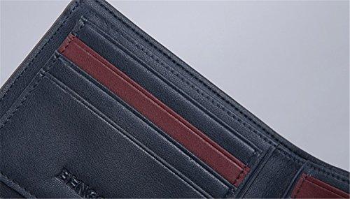Purse Billfold Card Front Case Pocket Men Wallet BININBOX Coin ID Black Leisure Slim 50vaqI5Rn