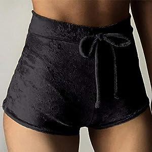 Pantalones-cortos-de-terciopelo-con-cordn-para-mujer-tallas-grandes-cintura-alta-sexy-ajustados-para-mujer