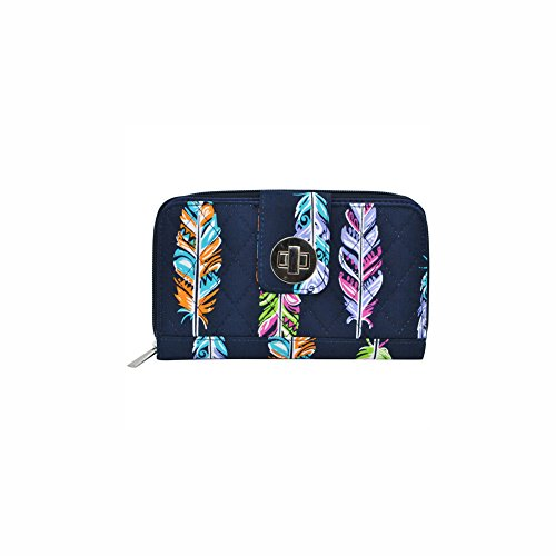 Feather Lock Wallet navy NGIL Twist Quilted OwxnTC7