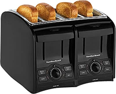 Black Perfecttoast 4-slice Wide-slot Toaster -Hamilton Beach