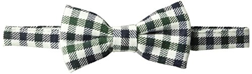 Mud Pie Baby Adjustable Bow Tie, black gingham, ONE SIZE