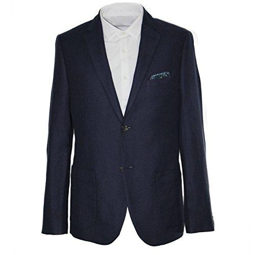 Cotton Linen Blazer (Harry Brown Linen Cotton Classic Fit Blazer in Navy 48R)