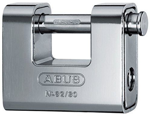 ABUS KG 20072 Padlock, Gray, 80 - Padlock Monoblock Shutter
