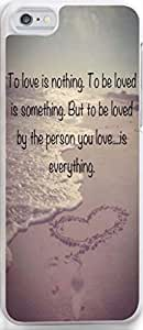 Case for Iphone,Dseason Iphone 5 5s Hard Case **NEW** High Quality Unique Design christian quotes to love is nothing .to be loved is something. but to be loved by the person you love...is everything.