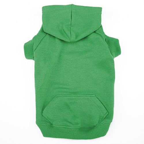 Casual Canine Basic Hoodie for Dogs, 30'' XXL, Green by Casual Canine