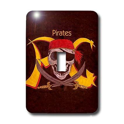 3dRose lsp_1265_1 Pirates Single Toggle Switch Wall Plates