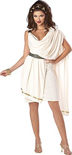 California Costumes Women's Deluxe Classic Toga Adult, Cream, X-Small -