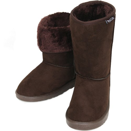 Nieuwe Eenvoudige Shearling Womens Winter Snow Warm Boots Shoes Coffee