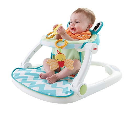 Price comparison product image Fisher-Price Sit-Me-Up Floor Seat, Citrus Frog