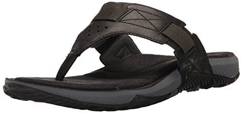 (Merrell Men's TERRANT Thong Sandal Black 9 M US)