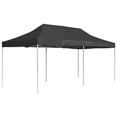 "WWHZ Professional Folding Party Tent Aluminium 236.2""x118.1"" Anthracite : Garden & Outdoor"