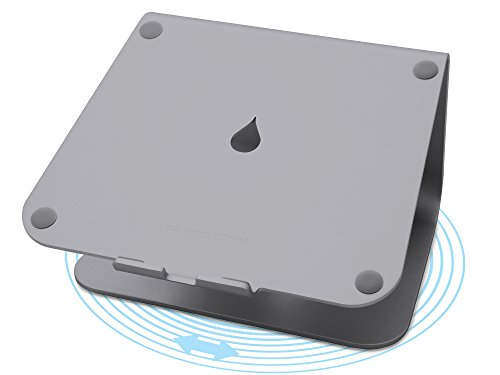 mStand360 Laptop Stand with Swivel Base, Space Gray