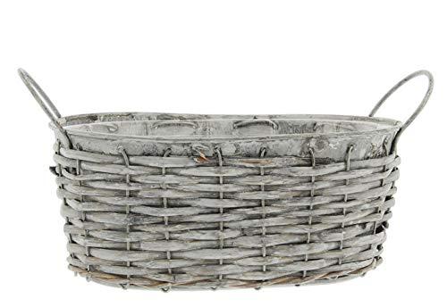 (Lucky Winner Galvanized Metal Wicker Basket, 8.75