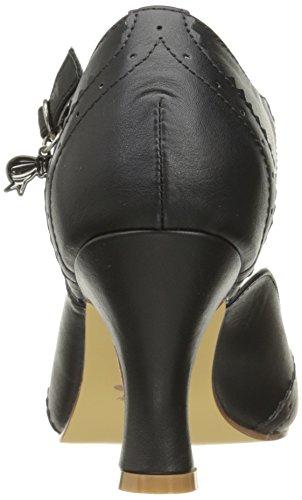 Blk Pin Faux Salomé Couture Bpu 11 Leather Up Noir Flapper Escarpins Femme pT7w8pSq