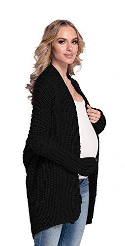 Happy Mama De Las Mujeres Rebeca Maternidad Batwing Suéter 329p negro