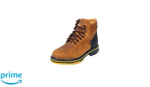 Amazon.com | ESTABLO Botin Trabajo ID 13359 (Bot) Piel Mango Negro | Boots