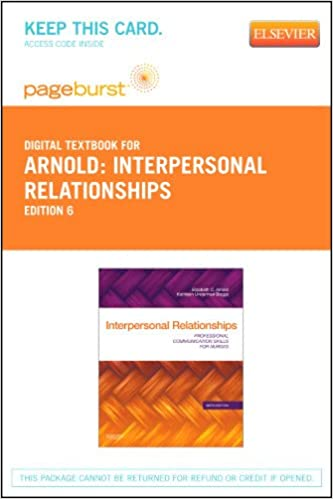 Interpersonal relationships elsevier ebook on vitalsource retail interpersonal relationships elsevier ebook on vitalsource retail access card professional communication skills for nurses 6e 6th edition fandeluxe Gallery