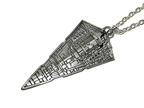 QueenGEEK Star Wars Imperial Star Destroyer Pendant Necklace US SELLER (Starship Pendant)