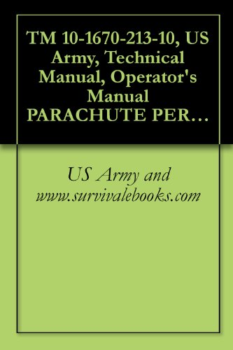 TM 10-1670-213-10, US Army, Technical Manual, Operator's Manual PARACHUTE PERSONNEL, TYPES: 28-FOOT-DIAMETER BACK 28-FOOT-DIAMETER CHEST, NB-8 BACK, AND MARTIN-BAKER EJECTION SEAT HARNESSES, 1975 (Parachute Cdc)