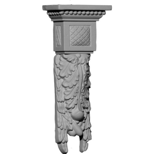 Ekena Millwork COR04X02X09HA 4-Inch W x 2 1/8-Inch D x 9 5/8-Inch H Hampshire Medium Drop (Medium Corbel)