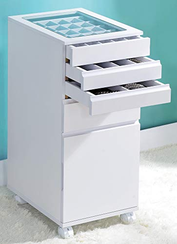 ACME Furniture Nariah Jewelry Armoire, White (French Kitchens Cottage)