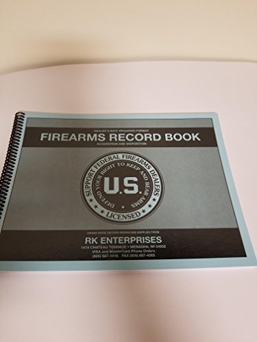RK Enterprises Dealer Firearms / FFL Bound Log Book / Firearms Acquisition and Disposition Record Book1000 Entry by RK Enterprises