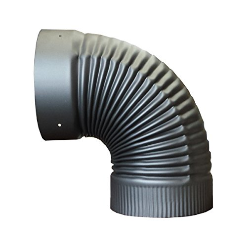 7 inch black stove pipe elbow - 4