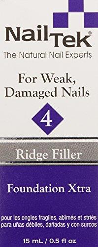 Nailtek Foundation Xtra Ridge-filling Nail Strengthener Base Coat, 0.5 Fluid Ounce by Nail Tek (Image #2)