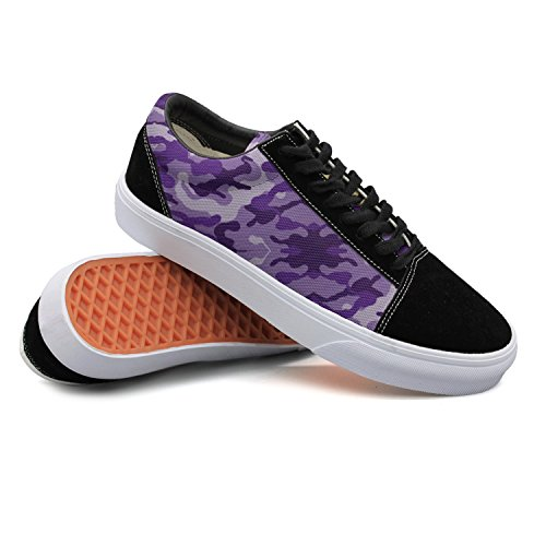 Armsttm Women Skate Shoes Purple Camouflage Classic Suede Sneaker Classic Shoes (Skateboard Shoe Purple)
