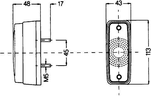 C5W HELLA 2PF 997 027-011 Positionsleuchte glasklar Anbau vorne links//rechts waagerecht