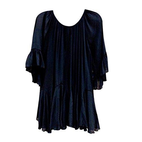 Poofy Sleeve Top - Tops Blouse Women Summer Fashion Boho Ruffle Shirts Butterfly Sleeve Irregular Tops Blouse