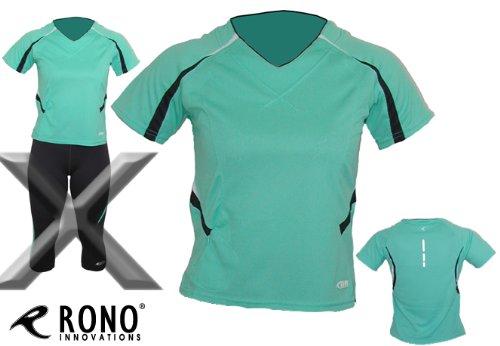 Rono minzefarbenes Kurzarm Laufshirt für Damen - Women Meryl Flow Short Sleeve T-Shirt Mint