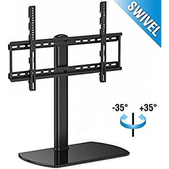 universal tv stand for tv with swivel and height adjustment electronics. Black Bedroom Furniture Sets. Home Design Ideas