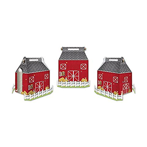 Beistle Party Decoration Accessory Barn Favor Boxes Picket Fences Included 3